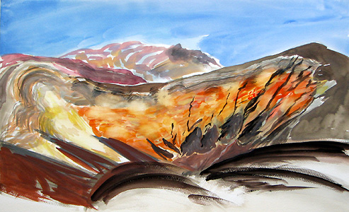 Ubehebe Crater by Janet Morgan